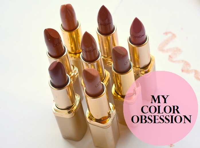 My Color Obsession With Brown Shades Of Loreal Color Riche Lipsticks