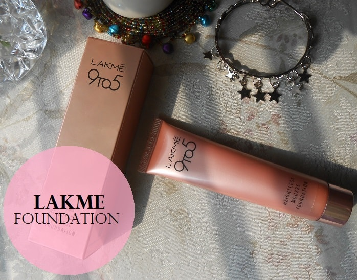 Lakme-9-to-5-Weightless-Mousse-Foundation-Review-swatches-price-india