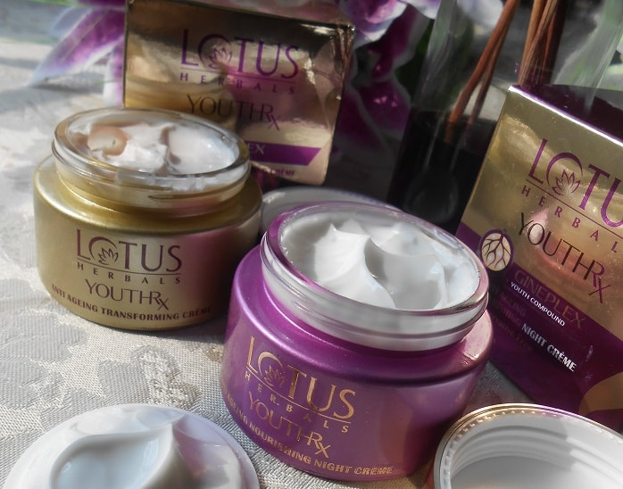 Lotus-Herbals-YouthRx-Anti-Ageing-Nourishing-Night-Creme-and-transforming-creme-reviews