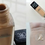 Maybelline Fit Me Matte+Poreless Foundation Review, Swatches: #310 Sun Beige