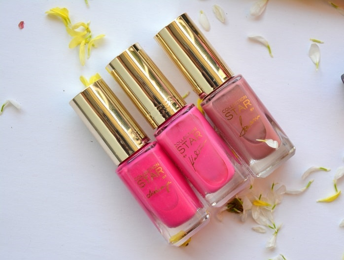 LOreal-Paris-La-Vie-En-Rose-Collection-Star-Range-nail-polishes-reviews-shades-swatches-price-buy-online