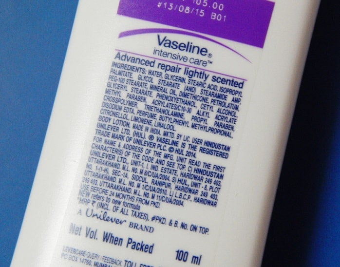Vaseline-Intensive-Care-Advanced-Repair-Lightly-Scented-Body-Lotion-review-ingredients-price-buy-online