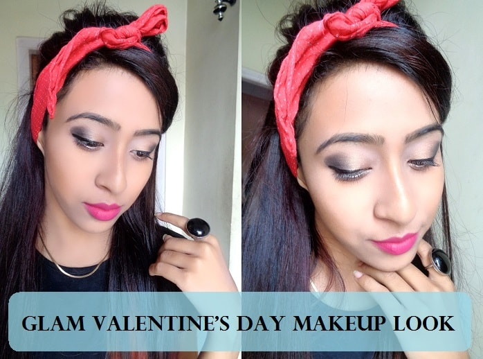 Tutorial Valentineu0026#39;s Day Romantic Pink Makeup Look On Indian Skin