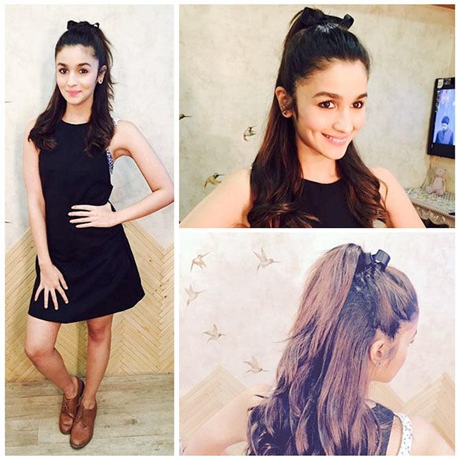 Alia Bhatt in Bow hairstyle