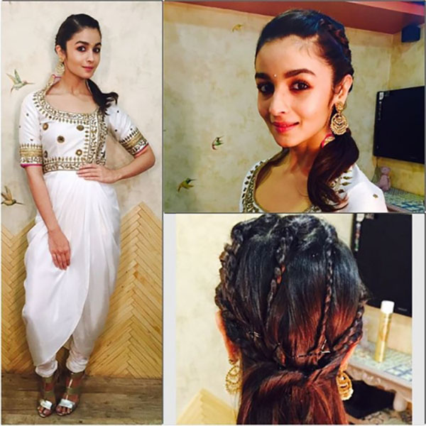 Alia Bhatt in the mutli braid