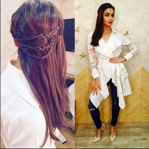 Alia Bhatt in the necklace braid