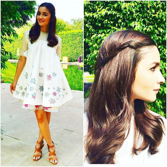 Alia Bhatt in twist hairstyle