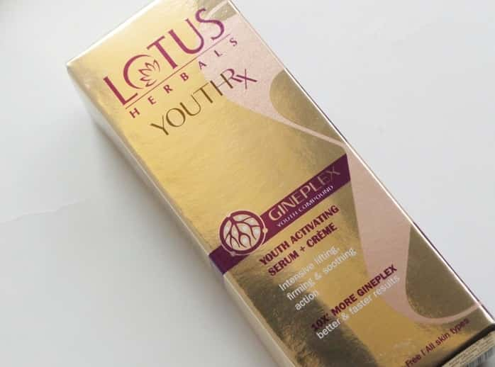 Lotus-Herbals-YOUTHRx-Youth-Activating-Serum-plus-Creme-review-swatches-price-buy-online