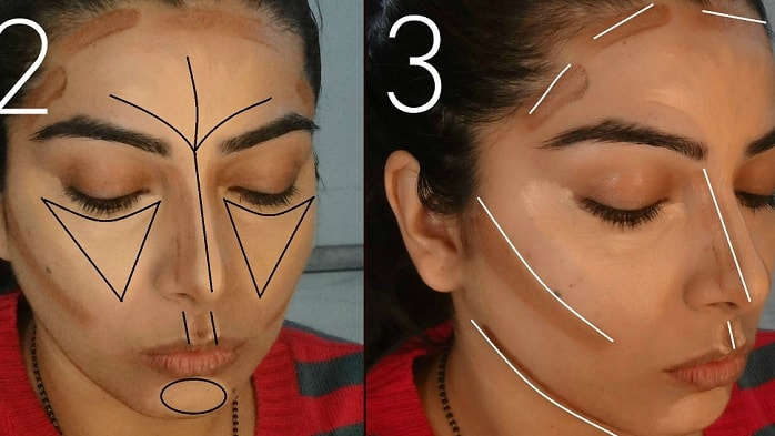 step2-how-to-contour-and-highlight-your-face-to-look-slimmer