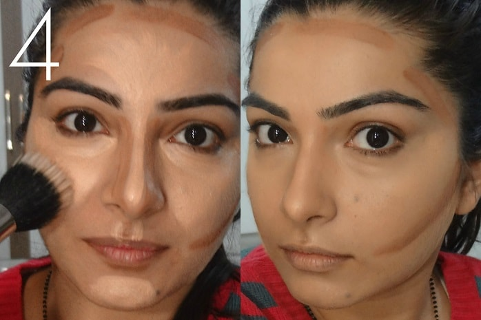 step4-how-to-contour-and-highlight-round-face