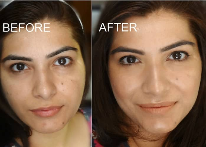 strobing-makeup-on-indian-skin-before-after
