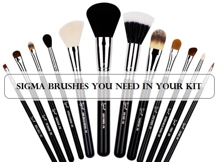 Rørig Top 10 Must Have Sigma Brushes: for Eyes, Face, Contour JA-28
