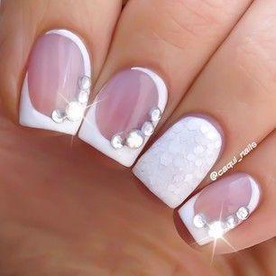Top 20 Bridal Nail Art Designs 11