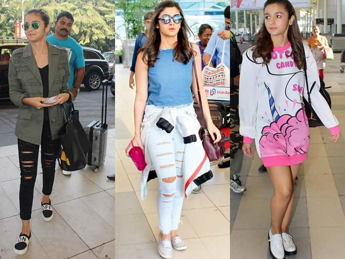 alia bhatt airport outfit