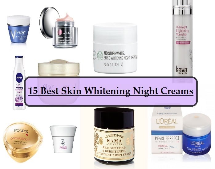 15 Best Skin Whitening Night Creams Available In India