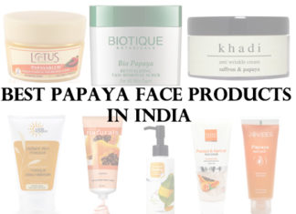 Best Papaya Face Products in India