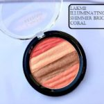 Lakme Absolute Illuminating Shimmer Brick Coral: Review, Swatches