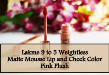 Lakme 9 to 5 Weightless Matte Mousse Lip and Cheek Color Pink Plush