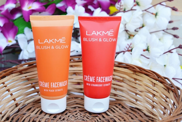 Lakme Blush & Glow Creme Face Washes Review: Peach and Strawberry